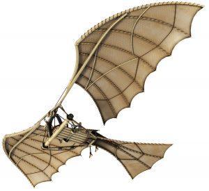 لئوناردو داوینچی، نقاش یا طراح هواپیما